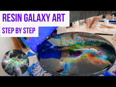 """""""TNT Space Explosion """" A Resin Galaxy Painting Collaboration With Tammy Anderson Art!"""
