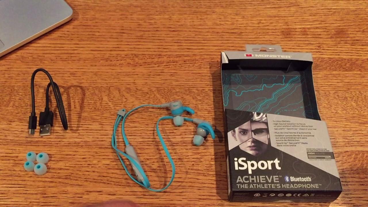1fde2feb56b Monster iSport Achieve In-Ear Wireless Bluetooth Headphones Review ...