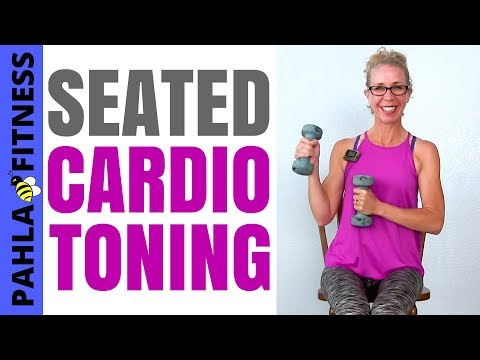 SEATED Cardio Toning HIIT | 35 Minute High Intensity Body Shaping + Weight Loss Workout in a CHAIR