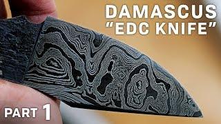 DAMASCUS EDC! - Part 1 (Coffee Etch)
