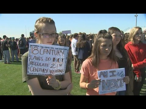 VIDEO: Mountain View HS students among many to walk out of class Wednesday