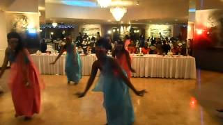 Rwandese dance at the wedding in Denver,Colorado