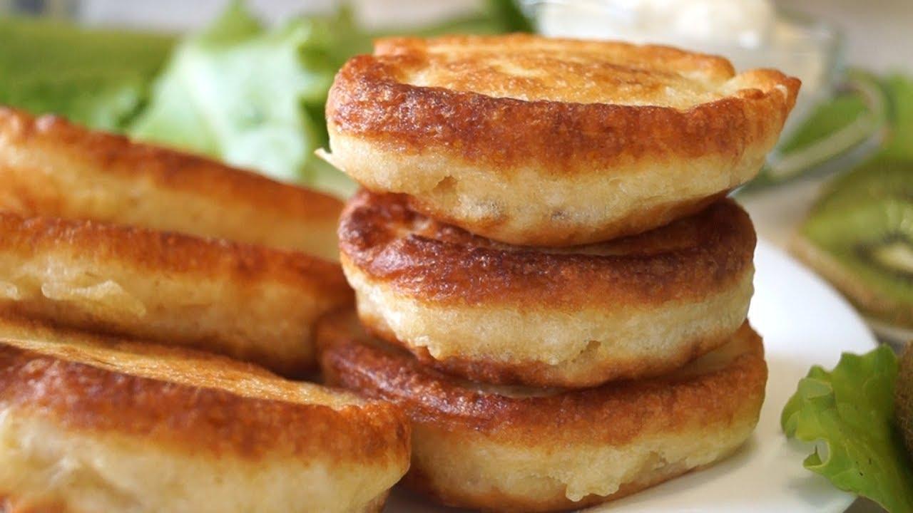 Самый простой рецепт пышных оладьев (оладушек) на кефире.
