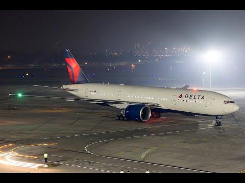 Delta Boeing 777-200LR Inaugural Flight To CSMIA, Mumbai