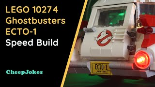 LEGO 10274 Ghostbusters ECTO-1 Speed Build | LEGO | CheepJokes