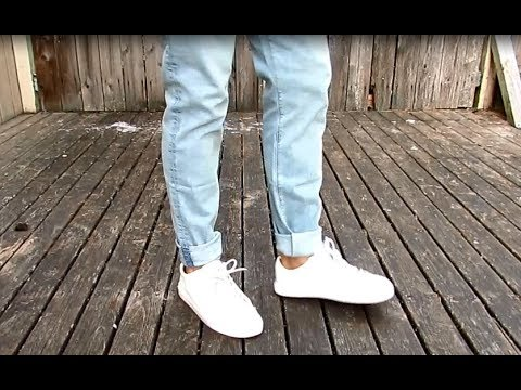 How To Taper Jeans NO SEW Temporary Fix YouTube Impressive How To Patch Jeans Without A Sewing Machine