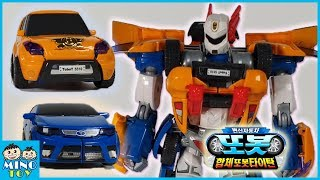 Tobot X and Y combine to transform 2 vehicles to Titan robots