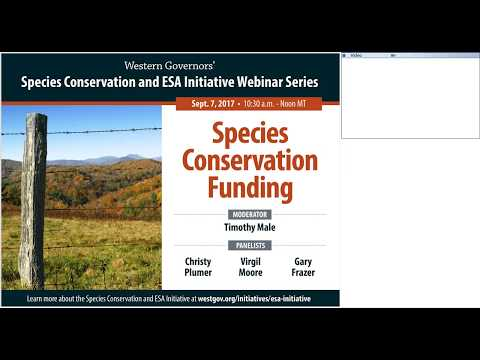 Webinar: Species Conservation Funding