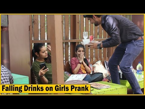 Falling Drinks on Guests Prank at Outdoor Cafe | The HunGama Films
