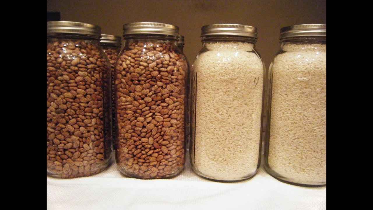 Prepper Series - How to Dry Can Beans and Rice (This