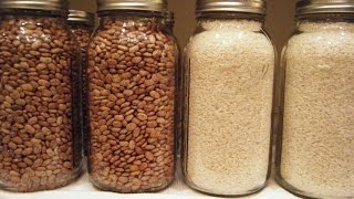 Prepper Series - How to Dry Can Beans and Rice (This controls bugs and larvae in food stores)