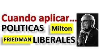 Politicas Liberales de MILTON FRIEDMAN