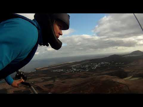 Hanggliding on Lanzarote, Mala in January 2013