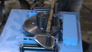 Работа станка для гибки арматуры. ОАО