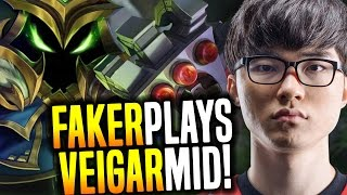 Faker Wants To Play Veigar Mid! - SKT T1 Faker SoloQ Playing Veigar Midlane | SKT T1 Replays