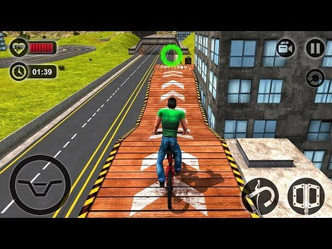 Rooftop Bicycle Stunt Rider 3D (by Tech 3D Games Studios) Android Gameplay [HD]