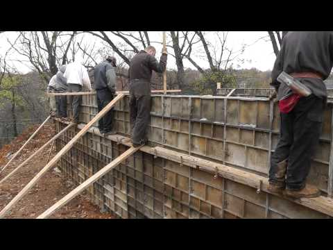 Design-Build Narrow Lot Vlog #7 - Pouring the Concrete Foundation Walls
