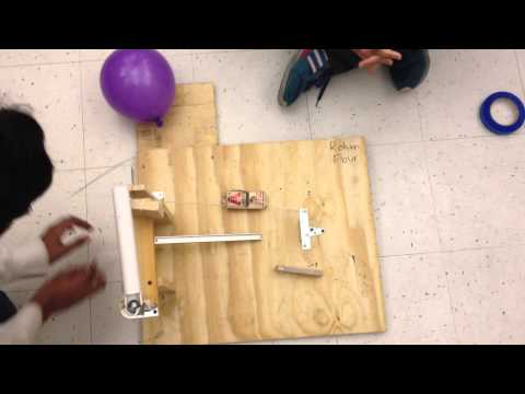 Engineering tech class final RG machine in action (Group 5 Period 7)