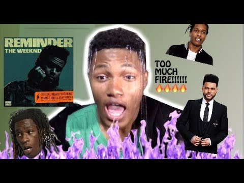 The Weeknd - Reminder (Remix) ft. Young Thug & A$AP Rocky REACTION!!!