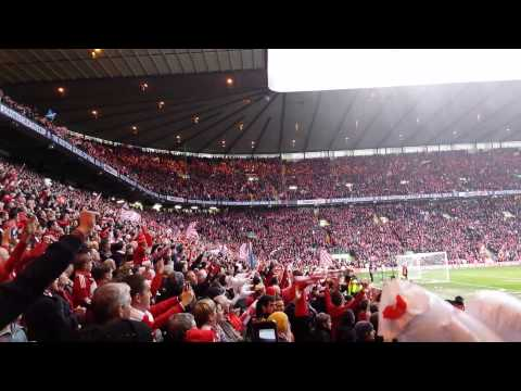 Aberdeen cup final win fans singing