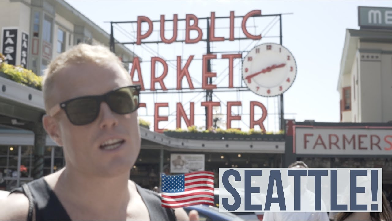 PIKE PLACE MARKET.. SEATTLE!!? What to do: Food Tour, Gum Wall, Pier 57 | Digital Nomad Travel Vlog