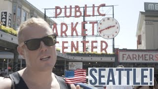PIKE PLACE MARKET.. SEATTLE!!🐟 What to do: Food Tour, Gum Wall, Pier 57 | Digital Nomad Travel Vlog