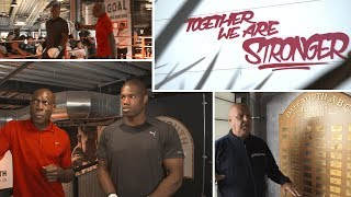Frank Bruno and Daniel Dubois visit Grenfell Tower's boxing club two years on
