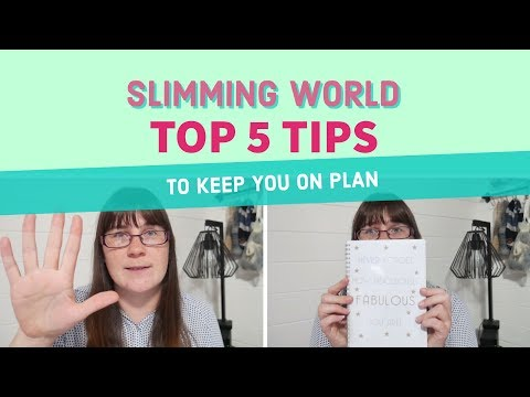 Weightloss Wednesday - Top 5 Tips for Keeping on the Slimming World Plan