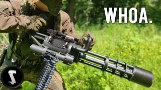 Possibly The Most Painful Airsoft Gun in Existence (3000 RPM Custom Minigun)