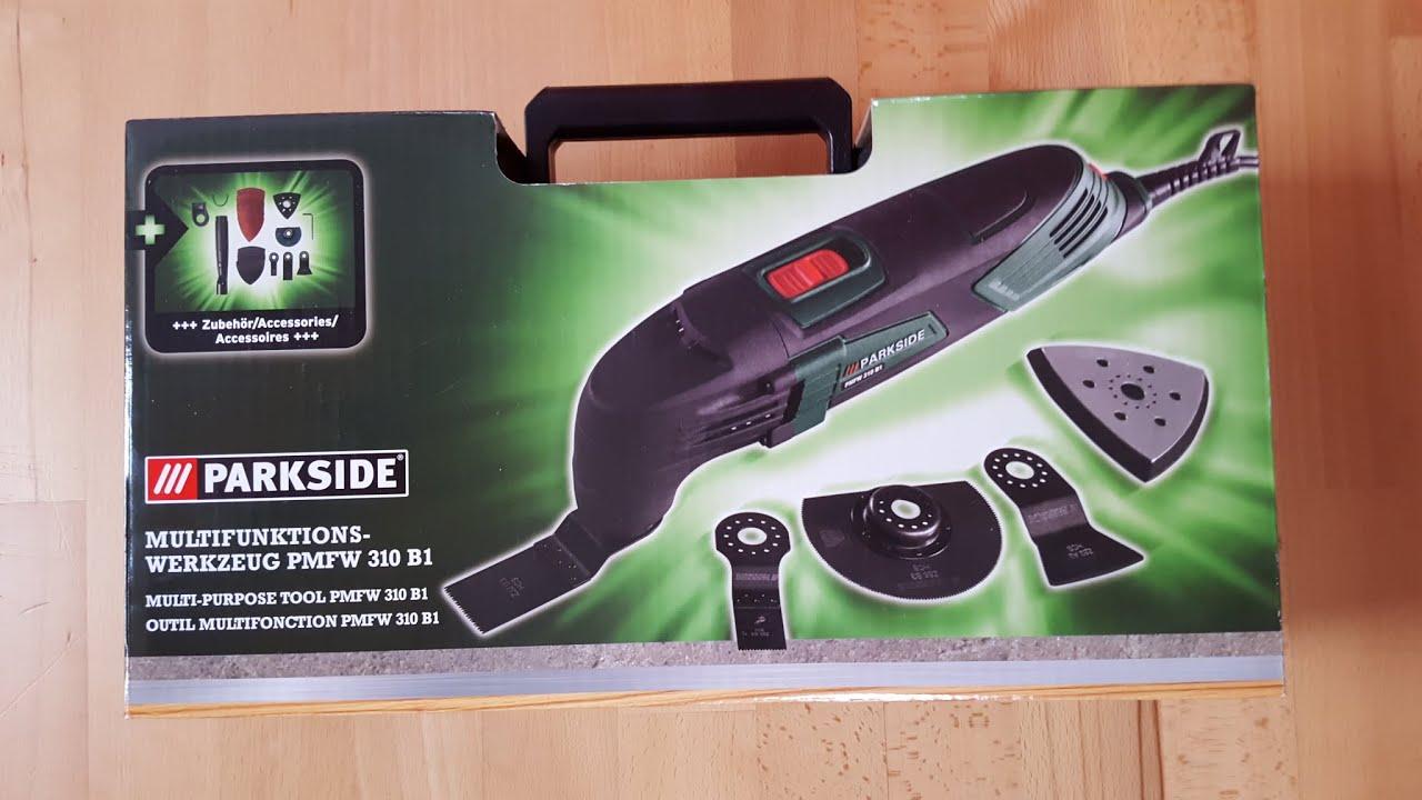 parkside pmfw 310 b1 multifunktionswerkzeug deltaschleifer delta sander unboxing 4k youtube. Black Bedroom Furniture Sets. Home Design Ideas