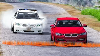 SPIKE STRIP HIGH SPEED CAR CRASHES #28 - BeamNG Drive Crashes