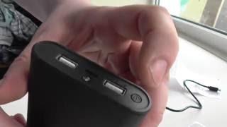 ОБЗОР ПАУЭРБАНКА PowerAid 10400 black.Портативный аккумулятор.Зарядное устройство.