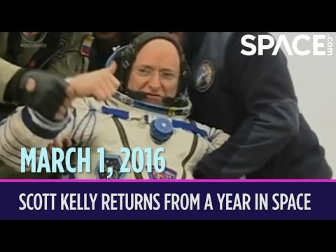 OTD in Space – March 1: Scott Kelly Returns from a Year in Space