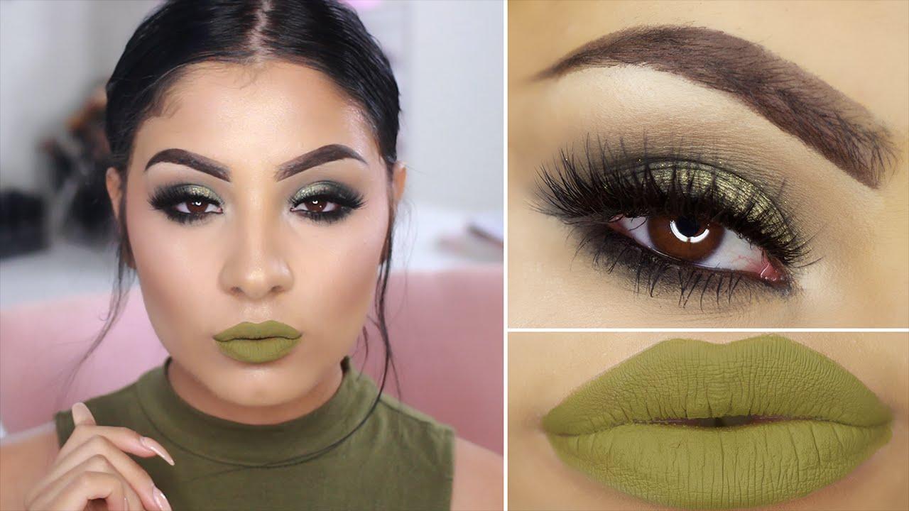 Olive green makeup tutorial youtube olive green makeup tutorial baditri Images