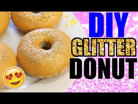 GLITZER DONUTS SELBER MACHEN 😉 EDIBLE GLITTER | DEUTSCH | KINDOFROSY