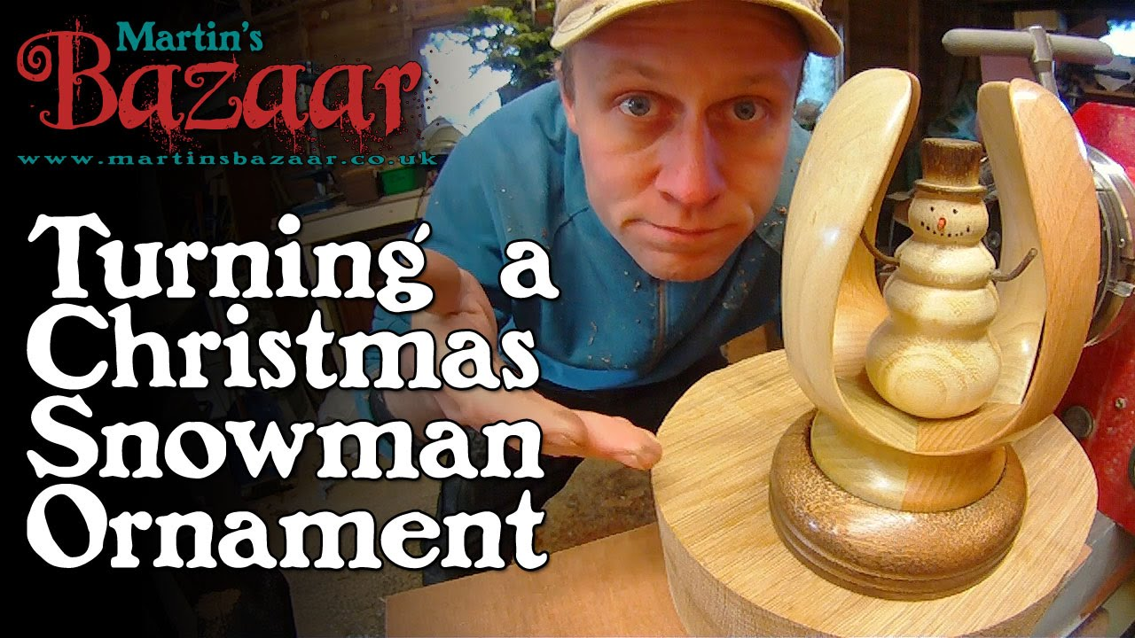 Turned Wood Christmas Snowman Inside Out Ornament Youtube