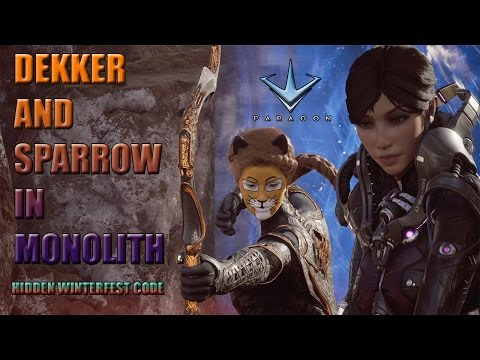 Paragon - Dekker and Sparrow Safe lane Monolith Full Gameplay