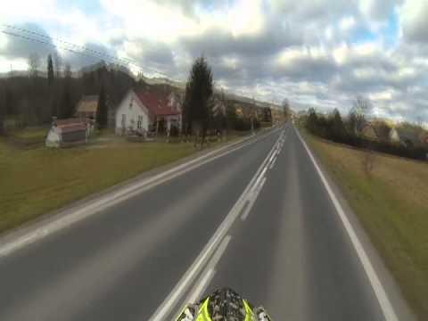 Motocross Time Kawasaki Kxf Wheelie Jazda Na Jednym Kole