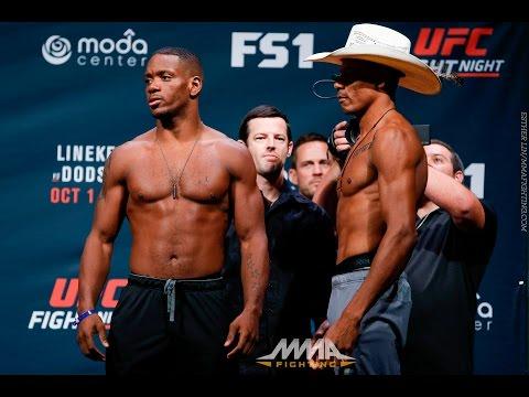 UFN 96 Weigh-Ins: Will Brooks vs. Alex Oliveira Staredown