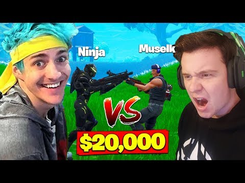 Ninja Vs. Muselk For *$20,000* In Fortnite Battle Royale!