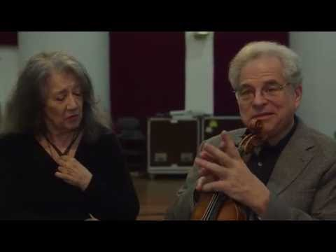 Itzhak Perlman and Martha Argerich record Bach, Schumann and Brahms