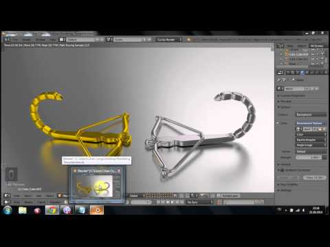 photorealistic 3d rendering template (Blender Cycles Rendering Engine) Metals, gold and silver
