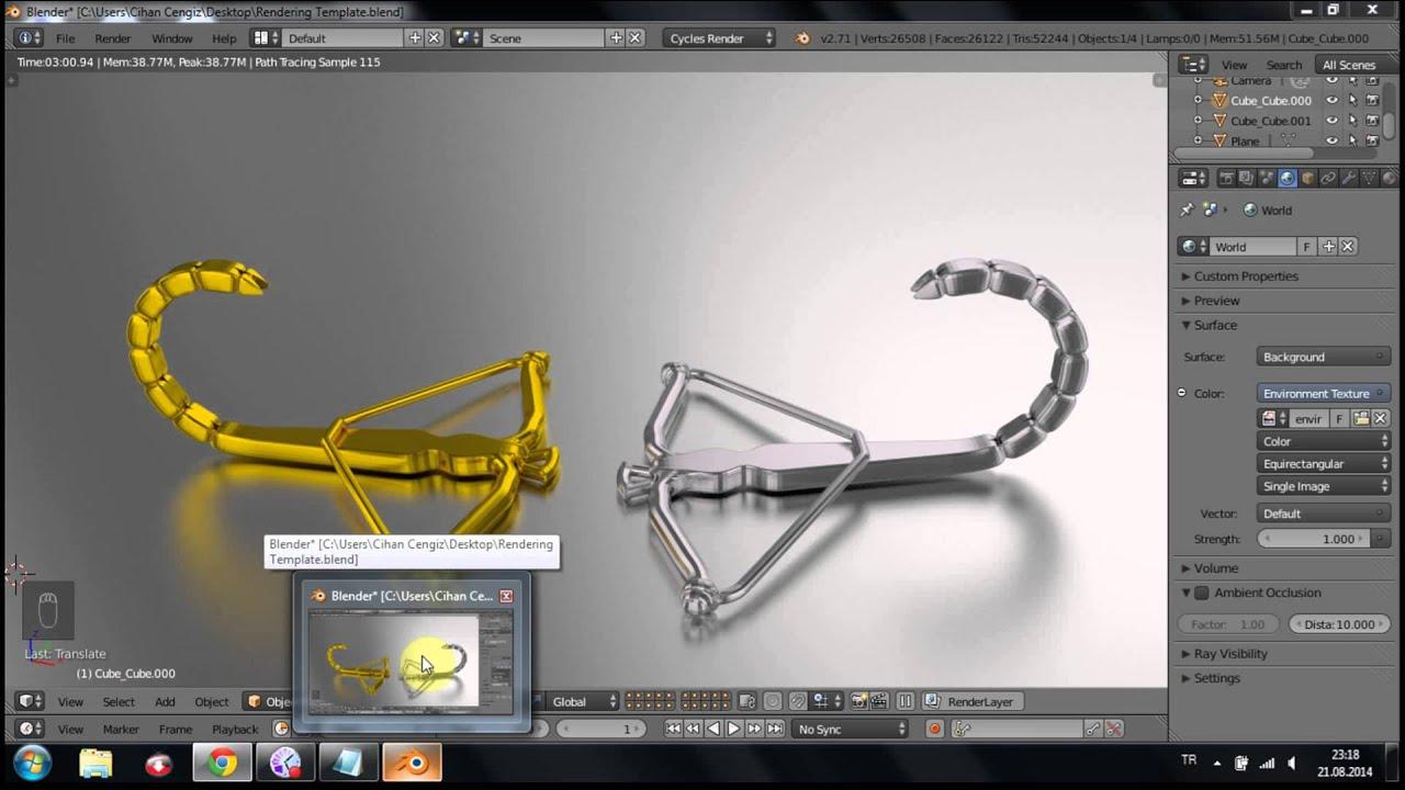 photorealistic 3d rendering template (Blender Cycles Rendering ...