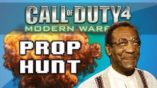 Call of Duty 4: Prop Hunt Funny Moments - Hiding in Spawn, Giant Book Shelf, Bill Cosby Shoutcast!
