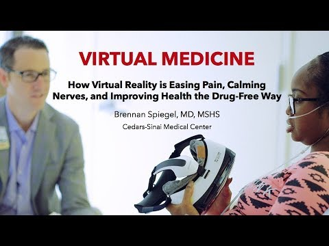 Dr Brennan Spiegel on the healing properties of wild dolphin VR @ Virtual  Medicine Conference LA