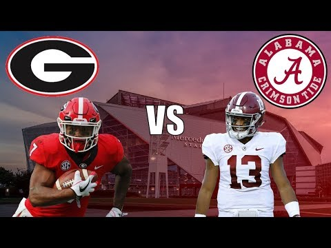 Georgia Vs Alabama SEC Championship Full Game 2018!