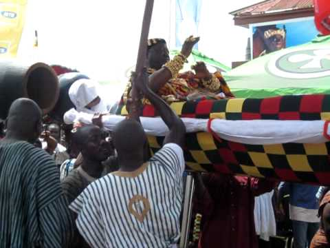 Busy Bee in Ghana: King Being Carried Through the Streets Odwira Festival