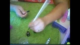 Дизайн ногтя на синем Кошачий глаз