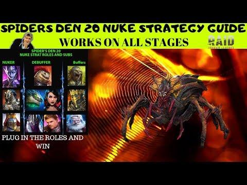 SPIDERS 20 AUTO GUIDE | NUKE STRATEGY | RAID: SHADOW LEGENDS