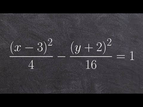 Learn how to graph a hyperbola